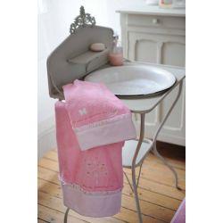 esme - toalla de lavabo y toalla de baño colección