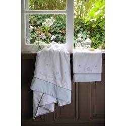 stars blue - toalla de lavabo y toalla de baño col