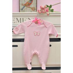 pijama de algodón little butterfly rosa