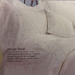 ropa de cama flower lace blanco
