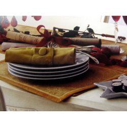 juego de mesa baroque dorado