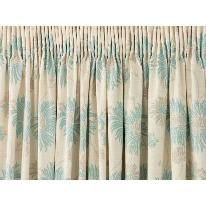 cortinas Kimono azul verdoso