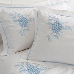 ropa de cama portland bordado azul cobalto