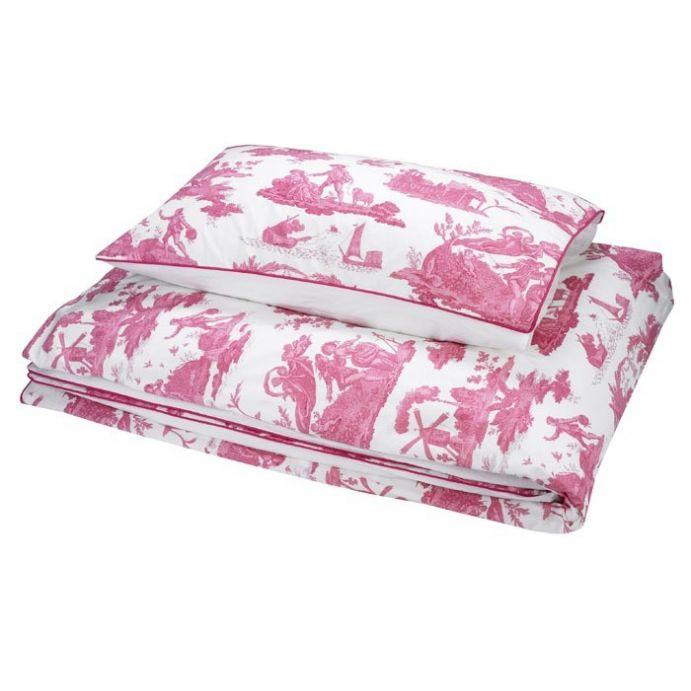 Comprar ropa de cama toile rosa cereza de dise o laura - Ropa de cama para hosteleria ...