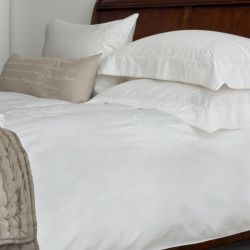 ropa de cama gypsophila bordada blanco
