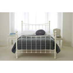 cama de metal Hastings marfil