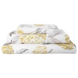 toallas estampadas hydrangea camomila
