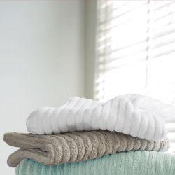 toallas acanalada gris topo