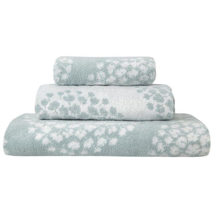 toallas estampado coco azul verdoso