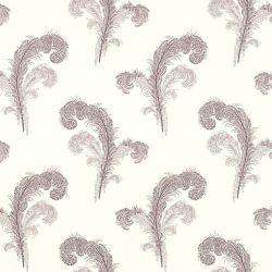 papel de pared pintado con grandes plumas de cisne en tonos morados