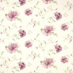 tela de flores rosas con hojas verdes de diseño elegante