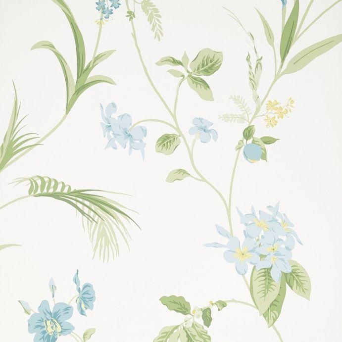 papel pintado Orchid verde manzana