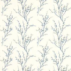 papel pintado pussy willow hueso azul mar