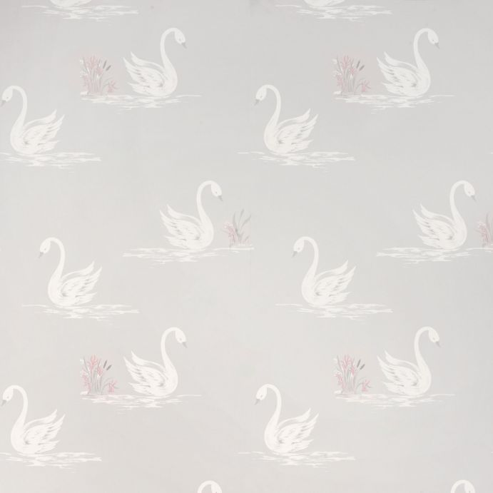 papel pintado swans gris plata