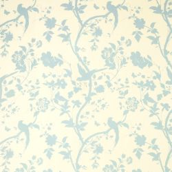 tejido oriental garden azul verdoso