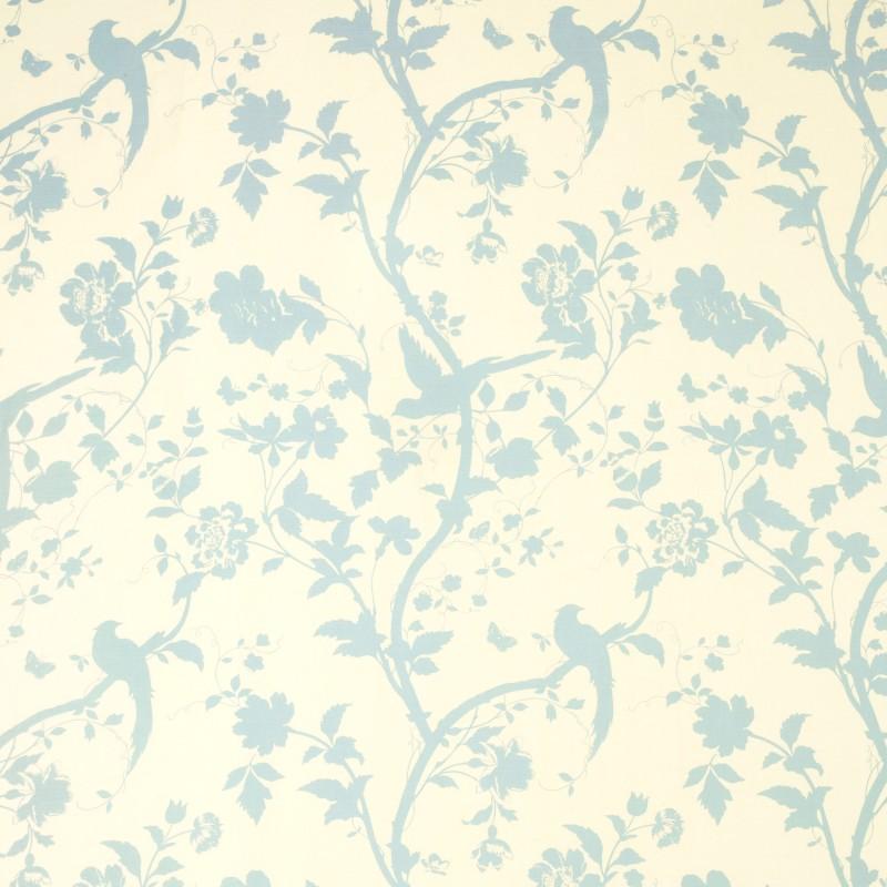 Comprar tejido oriental garden azul verdoso de dise o - Telas laura ashley ...