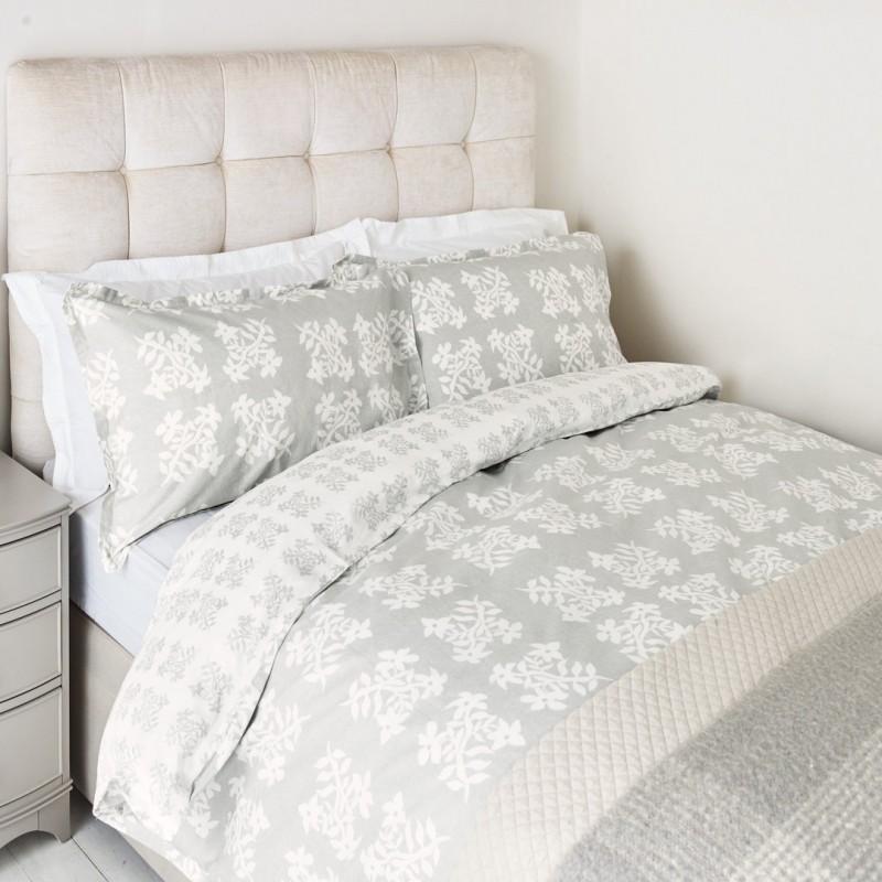 Comprar ropa de cama greenwich acero de dise o laura - Ropa de cama textura ...