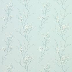 papel pintado de flores Pussy Willow azul verdoso, Laura Ashley
