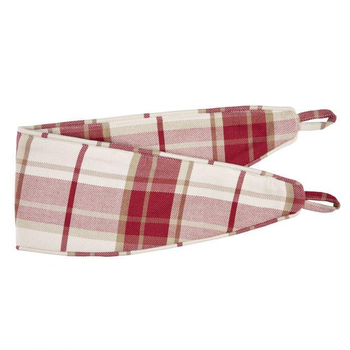 cortinas confeccionadas Highland Check arándano