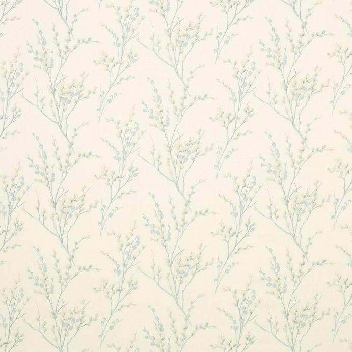 tejido estampado pussy willow hueso y azul verdoso