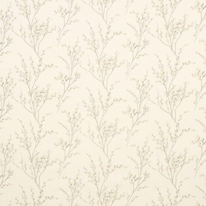 tejido estampado pussy willow hueso y gris claro