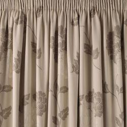 par de cortinas confeccionadas peony trufa 162X183