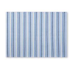 alfombra de rayas azules de diseño