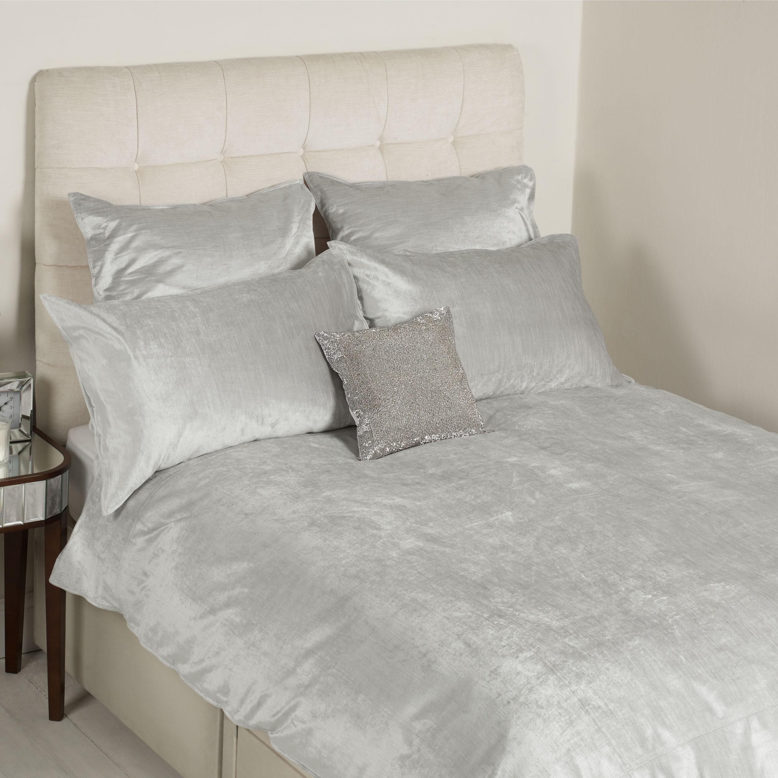 Comprar ropa de cama Alana terciopelo plata de diseño   Laura