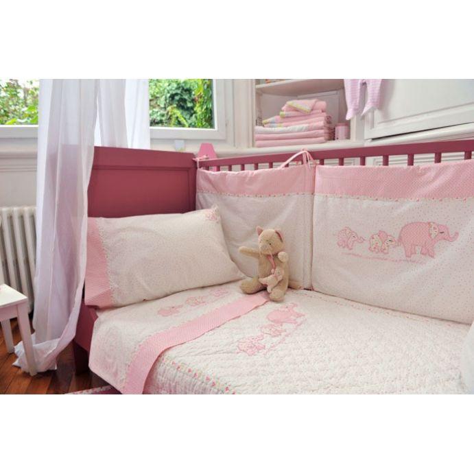 ropa de cuna pink elephant