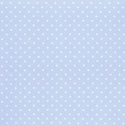 Tejido plastificado Polka Dot azul mar