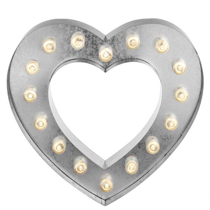 señal luminosa corazón