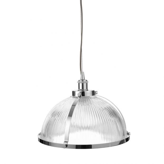 lámpara colgante de cristal estriado