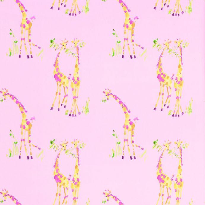 papel pintado Giraffes rosa