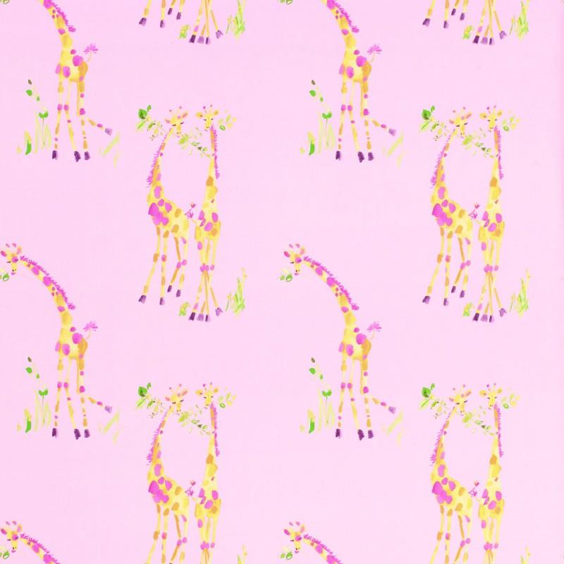 Comprar papel pintado giraffes rosa de dise o laura ashley decoracion - Papel pintado rosa ...