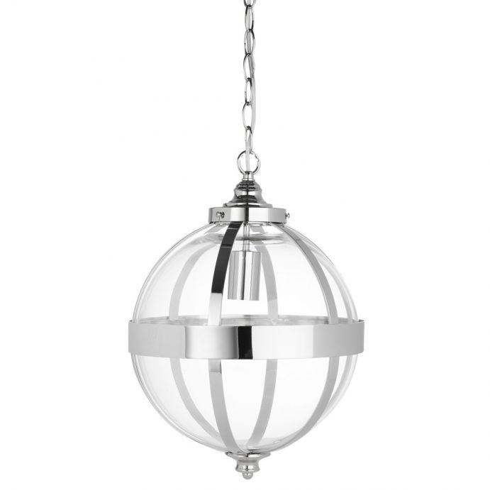 lámpara colgante Odiham níquel
