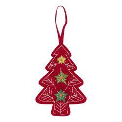 decoración para el árbol de fieltro