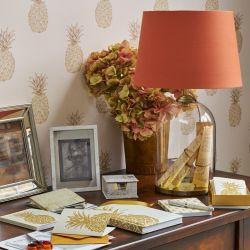 base de cristal Whitley oro satinado