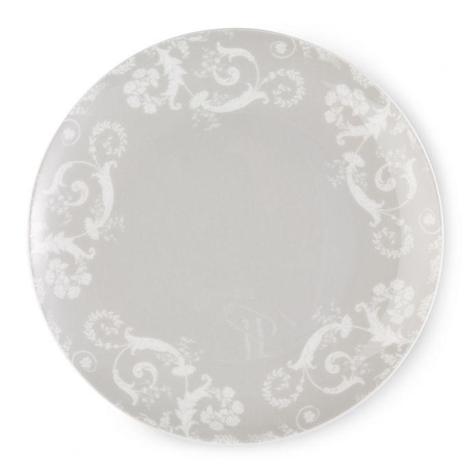4 platos de postre Josette gris