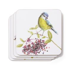 4 posavasos British Birds