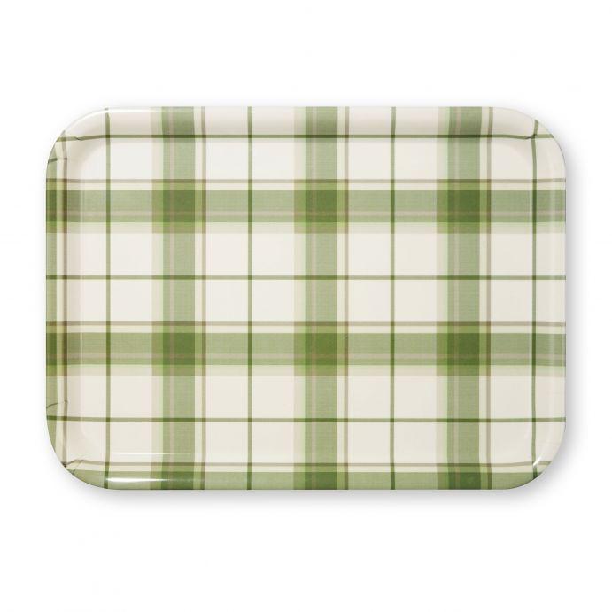 bandeja de melamina Highland Check verde