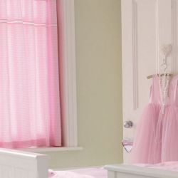 cortinas Gingham rosa