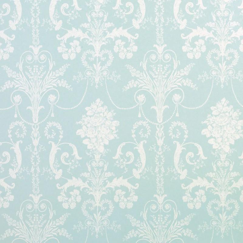 Comprar papel pintado josette azul verdoso de dise o for Papel pintado azul