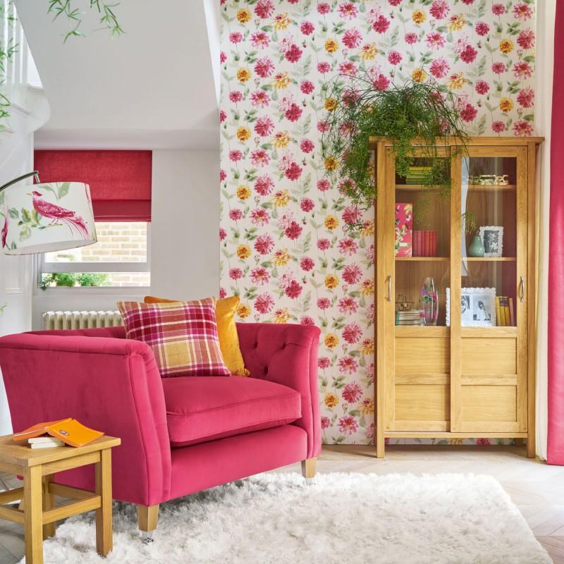 Comprar papel pintado dahlia parade rosa pomelo de dise o laura ashley decoracion - Papel pintado rosa ...