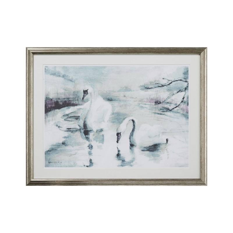 Comprar Lámina enmarcada Swan Scene de diseño - Laura Ashley Decoracion