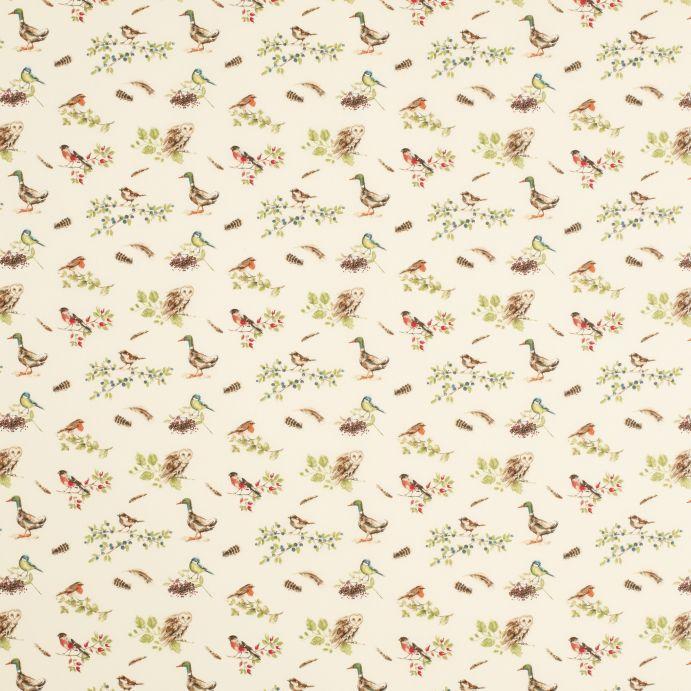 Comprar tejido plastificado british birds verde seto de for Papel pintado plastificado