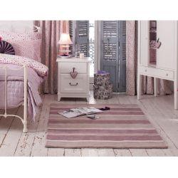 alfombra de lana de rayas moradas