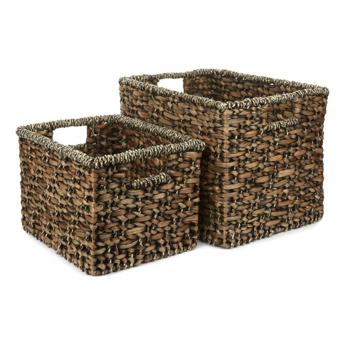 2 cestas rectangulares Kubu