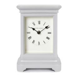 gran reloj de sobremesa Library gris claro