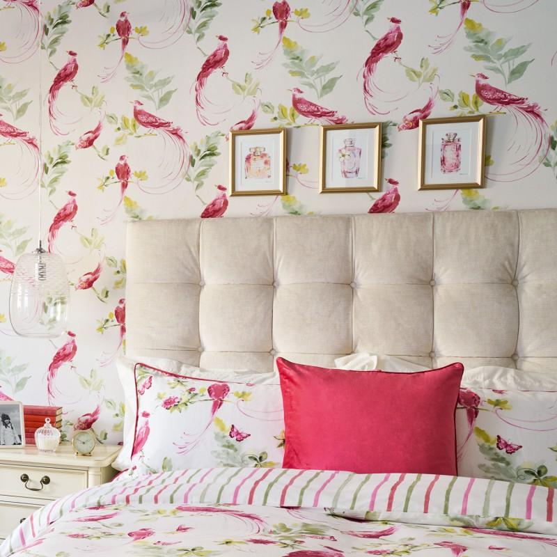 Comprar papel pintado harewood rosa pomelo de dise o laura ashley decoracion - Papel pintado rosa ...