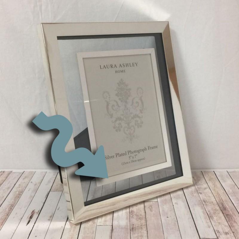 Comprar marco plata y cristal Evie (defectuoso) de diseño - Laura ...